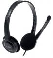 Гарнитура CBR CHP 313M проводная, микрофон, 2 x mini-jack 3.5 mm, регулировка оголовья, цвет чёрный