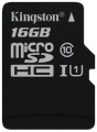 Карта microSD 16Gb Kingston Cl10 SDCS/16GBSP