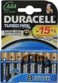 Эл. питания DURACELL (LR03) Turbo AAA (8шт) с индикатором заряда LR03/MX2400