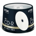 Диск CD-R TDK 700Mb 52x Cake Box Printable (50шт)