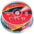 Диск CD-R VS 700Mb 52x Cake Box (25шт)
