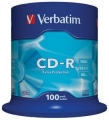 Диск CD-R Verbatim 700Mb 52x Cake Box (100шт) [43411]