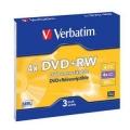 Диск DVD+RW Verbatim 4,7Gb 4x Slim case (3 шт) [43636]