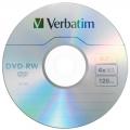 Диск DVD-RW Verbatim 4,7Gb 4x Cake Box (1шт)