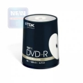 Диск DVD-R TDK 4,7Gb 16x Cake Box Printable (100шт) (t19915)