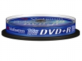 Диск DVD+R Verbatim 4,7Gb 16x Cake Box (10шт)