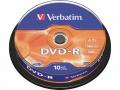 Диск DVD-R Verbatim 4,7Gb 16x Cake Box (10шт)