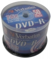 Диск DVD-R Verbatim 4,7Gb 16x Cake Box (50шт)