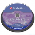 Диск DVD+R Verbatim 8,5Gb 8x Double Layer Cake Box (10шт)
