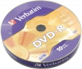 Диск DVD-R Verbatim 4,7Gb 16x shrink (10шт)