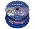 Диск DVD+R Verbatim 4,7GB 16x Printable (50шт) (43512)