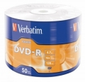 Диск DVD-R Verbatim 4,7Gb 16x Cake Box (50шт) [43791]