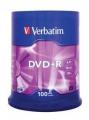 Диск DVD+R Verbatim 4,7Gb 16x Cake Box (100шт) [43551]