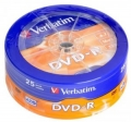 Диск DVD-R Verbatim 4,7Gb 16x Cake Box (25шт) [43730]