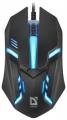 Мышь Defender Hit MB-550 black USB 7цветов, 3кн., 1200dpi (52550)