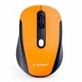 Мышь Gembird MUSW-420-3 оранжевая, беспроводная, 4кн, 1600DPI