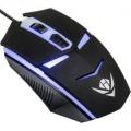 Мышь Nakatomi MOG-02U black USB игровая, 4 кнопки + ролик, 7-ми цветная подсветка