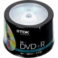 Диск DVD+R TDK 4,7GB 16x Printable (50шт)