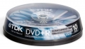 Диск DVD+R TDK 4,7GB 16x Cake Box (10шт) Scratch Proof (t19492)