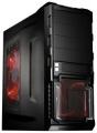 Корпус 3Cott 1810 Black ATX без БП 1x USB3.0 (с доп. коннектором USB 2.0), 1x USB2.0, 2х12см LED новые красные вент-ры, HD аудио, фильтр от пыли