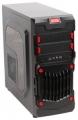 Корпус 3Cott 1818 Black ATX без БП 1x USB3.0 (с доп. коннектором USB 2.0), 1x USB2.0, 2х12см LED новые красные вент-ры, HD аудио, фильтр от пыли