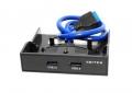 """Панель 5bites лицевая FP183P в 3.5"""" отсек корпуса ПК, 2*USB3.0"""