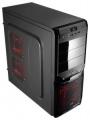 Корпус AeroCool V3X Advance Black//Red Edition , ATX, без БП, 1х USB 3.0, 1х USB 2.0, в комплекте 1х 120мм red LED + 1x 80мм black fan