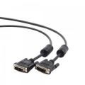 Кабель DVI- DVI 4.5м Gembird [CC-DVI-BK-15] single link черный, феррит. кольца