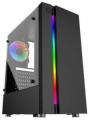 Корпус ExeGate EVO-9201-RGB ATX, без БП, Black,с окном, 2*USB+1*USB3.0, HD аудио, с RGB подсветкой