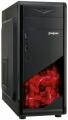Корпус ExeGate EVO-8207 Black ATX, без БП, 1*USB+1*USB3.0, HD аудио, черный с красной подсветкой