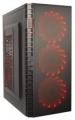 Корпус ExeGate EVO-7215 Black ATX, без БП, 1*USB+1*USB3.0, аудио, черный с красной подсветкой