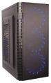 Корпус ExeGate EVO-7216 Black ATX, без БП, 1*USB+1*USB3.0, аудио, черный с голубой подсветкой