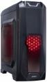 Корпус ExeGate EVO-8202 Black ATX, без БП, 2*USB+1*USB3.0, аудио, черный с красной подсветкой