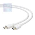 Кабель HDMI- HDMI 1.8m Cablexpert v1.4, 19M/19M, белый, позол.разъемы, экран [CC-HDMI4-W-6]
