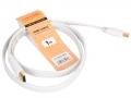 Кабель HDMI- HDMI 1m TV-COM v1.4, 19M/19M, белый, плоский [CG200FW-1M]