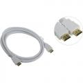 Кабель HDMI- HDMI 1.0m Aopen 19M/M ver 2.0, белый [ACG711W-1M]