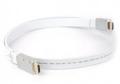 Кабель HDMI- HDMI 1.0m Aopen 19M/M ver 2.0 серебряно-белый Flat [ACG568F-S-1M]