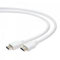 Кабель HDMI- HDMI 1,0m Cablexpert v1.4, 19M/19M, белый, позол.разъемы, экран [CC-HDMI4-W-1M]
