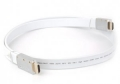 Кабель HDMI- HDMI 1.8m Aopen 19M/M ver 2.0 серебряно-белый Flat [ACG568F-S-1.8M]