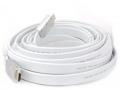 Кабель HDMI- HDMI 10m Aopen 19M/M ver 2.0 серебряно-белый Flat [ACG568F-S-10M]