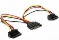 Разветвитель питания SATA Cablexpert 15см, 15pin (M)/2x15pin(F) на 2 SATA устр, угл. разъем [CC-SATAM2F-02]