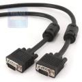 Кабель SVGA соединит.5.0м Cablexpert 15M/15M, черный, тройной экран, феррит.кольца [CC-PPVGA-5M-B]