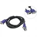 Кабель SVGA удлинит.3.0м TV-Com 15M/15F, черный, 2 фильтра [QCG342AD-3M]