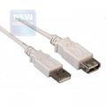 Кабель USB 2.0 Am->Af  4.5m (удлинитель) Gembird [CC-USB2-AMAF-15]