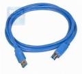 Кабель USB 3.0 PRO Am->Bm 1.8m позол.конт., синий Gembird [CCP-USB3-AMBM-6]