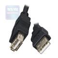 Кабель USB 2.0 Am->Af 1.8m (удлинитель) Gembird [CC-USB2-AMAF-6B] чёрный