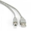 Кабель USB 2.0 Am->Bm 1.8m серый, экран. Gembird [CCP-USB2-AMBM-6G]