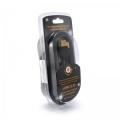 Кабель USB 2.0 Am->Bm 3.0m Konoos [KC-USB2-AMBM-3] черный, позол.разъемы, феррит.кольца