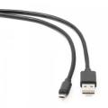 Кабель USB 2.0 Am->microB 5P 1.8m, черный, двусторонние разъемы Gembird [CC-mUSBDS-6]