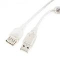 Кабель USB 2.0 Am->Af 2.0m (удлинитель) экран, феррит.кольцо черн. Gembird [CCF-USB2-AMAF-TR-2M]